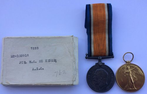 Boxed Pair to M2/103918 Pte W C McKenzie ASC