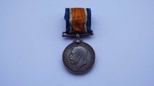 British War Medal to 26/1467 Pte M M Hardcastle North'd Fus / Tyneside Iris