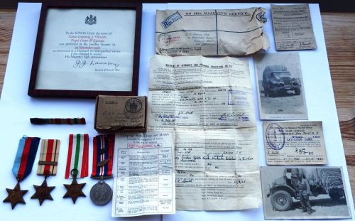 WW2 Mentioned in Despatches group to 2356315 DVR J T Smith R SIGS
