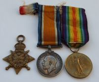 Direct from the family / 1914 Star Trio to 5597 Pte H Arnold 18/HRS / Constable Burton  Yorkshire
