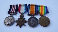 Military Medal 1914/15 trio to 17054 Pte W Luke 13/ Durh LI