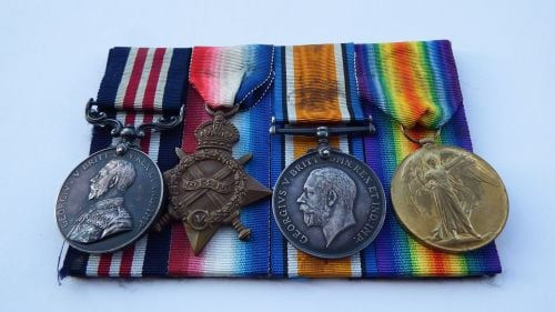 Military Medal 1914/15 to 14148 SJT J Hope 15 / Durh L I