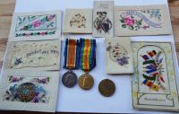 Pair to 19/1441 Pte J R Vardy Durh L I / with original postcards