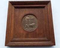 Memorial Plaque in Oak frame to Clifford Yvon Humphries / killed during an air raid 1916