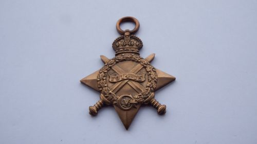 1914/15 Star to 6909 PTE C RUDGE E SURR R