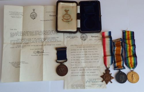 Liverpool Shipwreck and Humane Society Medal to Phillip Le Couteur / with 1