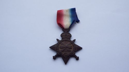 1914/15 Star to 13845 L / Cpl W H Brown W York R / KIA /  FLATIRON COPSE CE