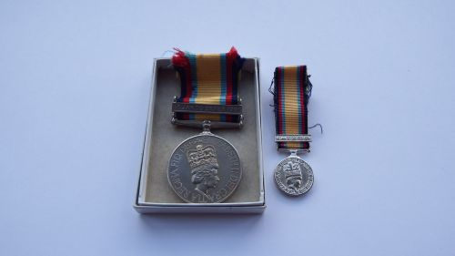 Gulf Medal to Mr G S L Markwell BAE / British Aerospace