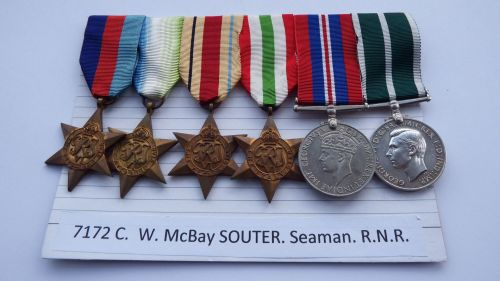 Royal Navy Reserve LSGC group to 7172C  W MCB Souter SMN RNR / Served with