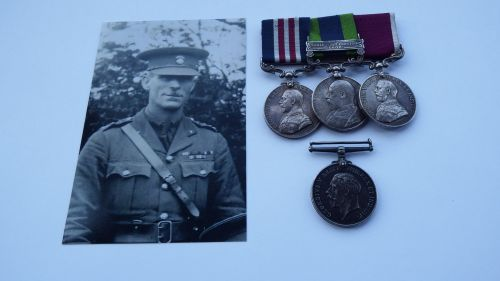 Military medal group to 7082 WO II C Adlard 1st Bn Northumberland Fusiliers