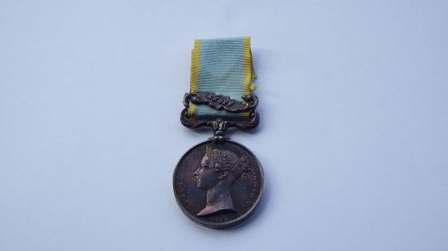 Crimea Medal with Bar Azoff to Wm King RM