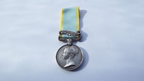 Crimea Medal With bar Sebastopol to William Smith Seaman HMS Agamemnon