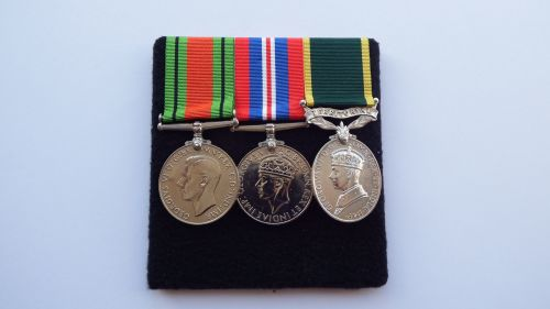 Territorial Efficiency Medal group to W3301 W O CL2 D B Archer ATS