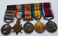 Three clasp IGS Medal /  1914 Star Bar Trio / EVII LSGC to 75683 WO Cl2 H C Dawson RA / Shoeing Smith