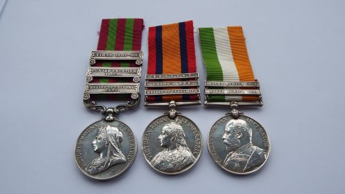 Three Clasp IGS Medal and QSA/KSA to 4011 Pte J Ross Gordon Highrs