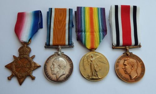 1914/15 Trio and Special Constabulary Medal  to 5501 1AM A Moorehouse RFC