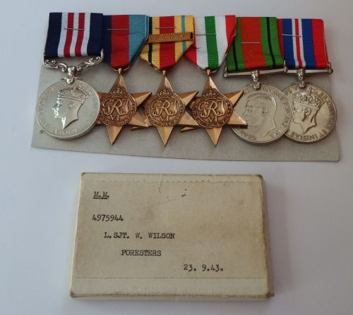 GVI Military Medal Group to 4975944 L SJT W Wilson Foresters / MM for destr