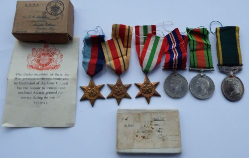 WW2 and Territorial Group to 915354 GNR R Addison RA / Wounded in Italy 12