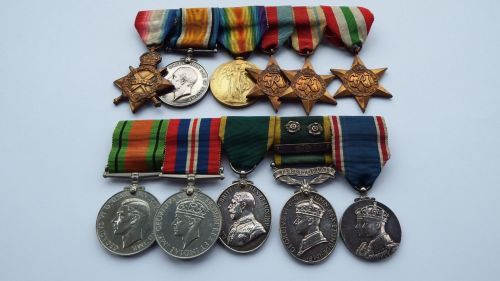 Great War and WW2 campaign group to 1406 W Milne RFA  / POW WW1