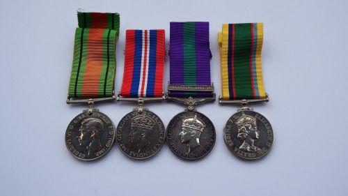 Campaign group to  Lt F J Dunford RASC / Major Cadet Force