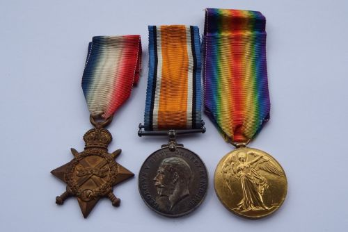 Casualty 1914/15 Trio to 926 Pte L F Joyce Dorset Yeo