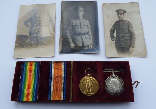 Casualty Pair to 355606 Cpl G E Hayter Hamps Regt