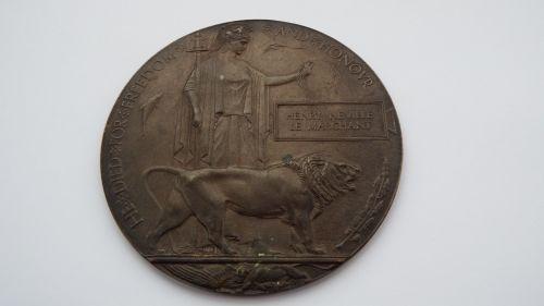 Memorial Plaque to Captain Henry Neville Le Marchant / Dorsets KIA Gallipol
