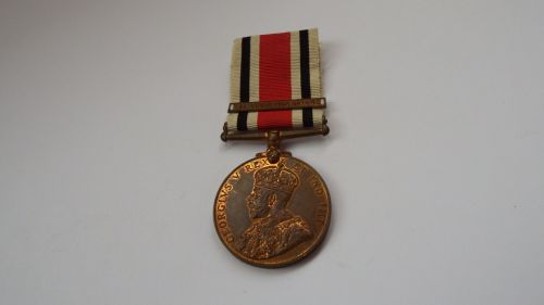 GV Special Constabulary Medal with Great War 1914-18 Bar to Inspr John T Ea