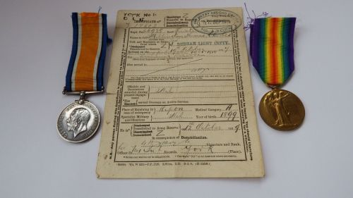 Pair with original discharge document to TR5/ 170562 Pte T C Millington DLI