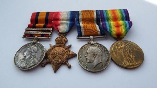 Camapign group to Lieutenant P F Knox Royal Fusillers / late 39 Impl Yeo