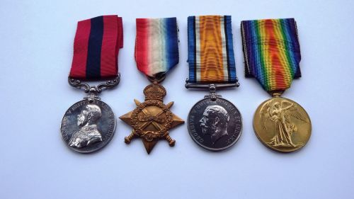 An exceptional Great War DCM Group to 8982 Pte E J Brooker 1/R Innis Fus /
