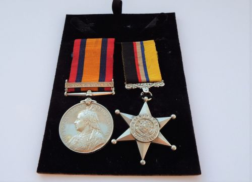 QSA and Kimberley Star pair to Pte R Thompson Kimberley Town Guard