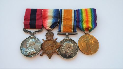 A Western Front GV DCM and 1914/15 trio to WO CL2 F Burns Lanc Fus