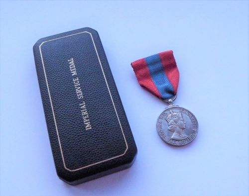 Cased EII Imperial Service Medal to Dorothy Gertrude Gladstone