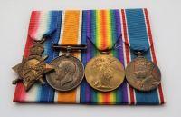 1914/15 Trio and 1937 Coronation medal to 43645 DVR E J Roche RFA