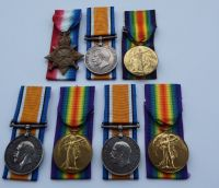 Great War Medals to Brothers / Officer POW/ Somme Casualty / Gallipoli Casualty