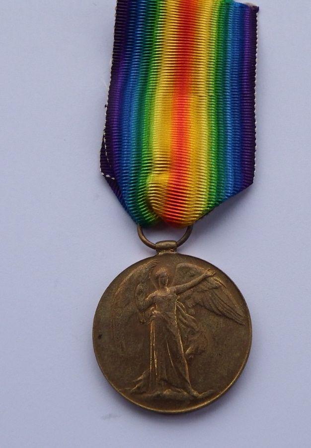 Casualty Victory medal to 239800 A S J Barter AB RN / KIA HMS Bulwark