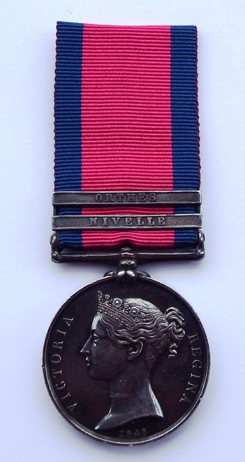 Military General Service Medal to Joseph Walsh 6th Foot / At the Siege of F
