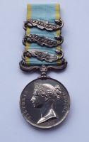 Three Bar Crimea Medal to Corpl R Scott 49 Regt