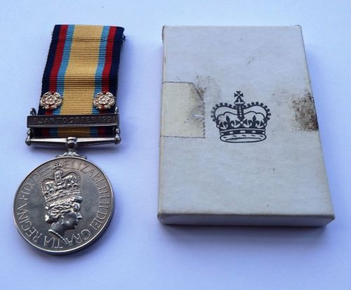 Gulf War Medal to 24885531 CFN M A Sanderson REME
