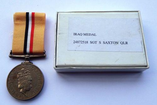 Iraq 2003 to 24872518 SGT S Saxton Queens Lancashire Regiment