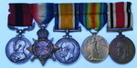 DCM 1914/15 Trio and SCLSM to Temporary Captain Harold Pearson Tank Corps