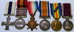 Military Cross QSA 14/15 Trio and LSGC to Acting Capt R Gillespie KOSB