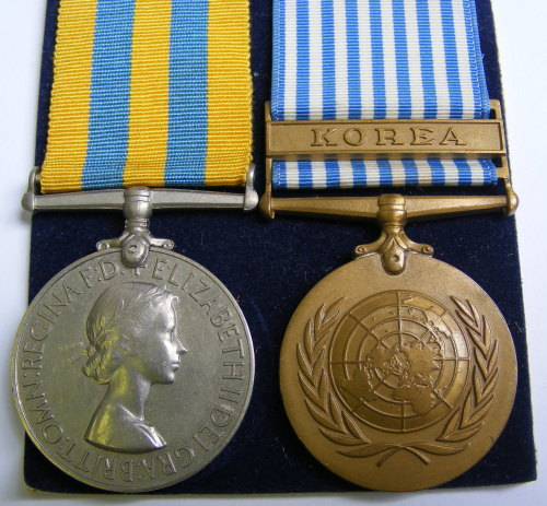 Korea & Nato pair to 22805814 Pte R Dolan Royal Scots