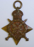 1914 Star to 7103 Pte D Clark Camn Highrs / A prisoner of war