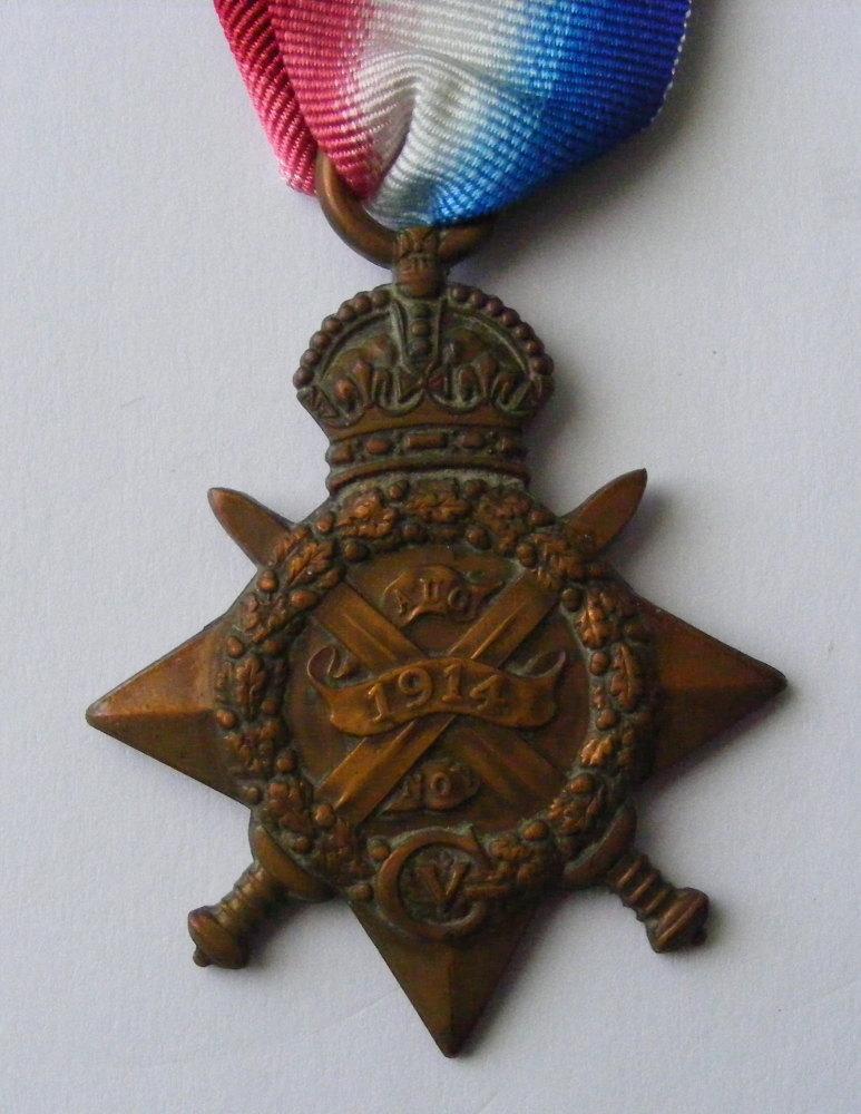 1914 Star to 3/8415 Pte J Ibbetson 2/W York R