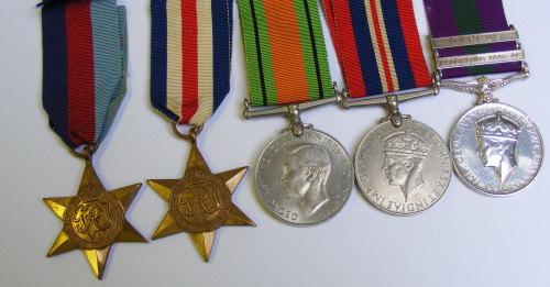 WW2 and 2 Bar GSM group to 14391667 SJT G A Kavanagh RA