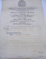 Royal Humane Society Vellum to Charles C Clarke 29 October 1899