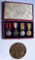 Poignant DCM 1914/15 Star Trio and Plaque to 4912 SGT G. Jones 8th East Surrey Regiment