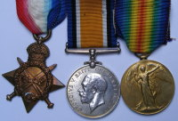 An intriguing 1914/15 Trio to Lieut W G Phillips RNVR formerly 12161 Pte 7 Norfolk regt